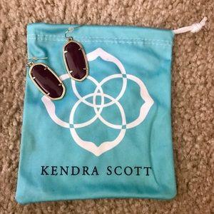 Kendra Scott maroon oval earrings